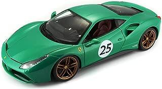 Bburago 18-76101 Ferrari 488 GTB 70th Anniversary The Green Jewel 1/18 Diecast Model Car by 76101, Multicolor
