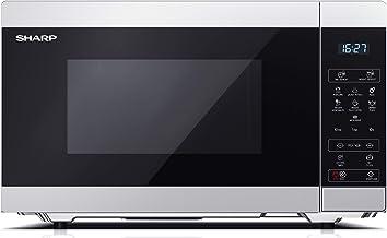 Sharp YC-MS51ES - Microondas con función de descongelación, 900 W, 25 L, 11 niveles de potencia, Eco, función de temporizador, seguridad infantil, incluye plato giratorio