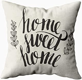 Capsceoll Pillows Case Standard Size, Sweet Home 16x16 Pillow Covers,Home Decoration Pillow Cases Zippered Covers Cushion for Sofa Couch