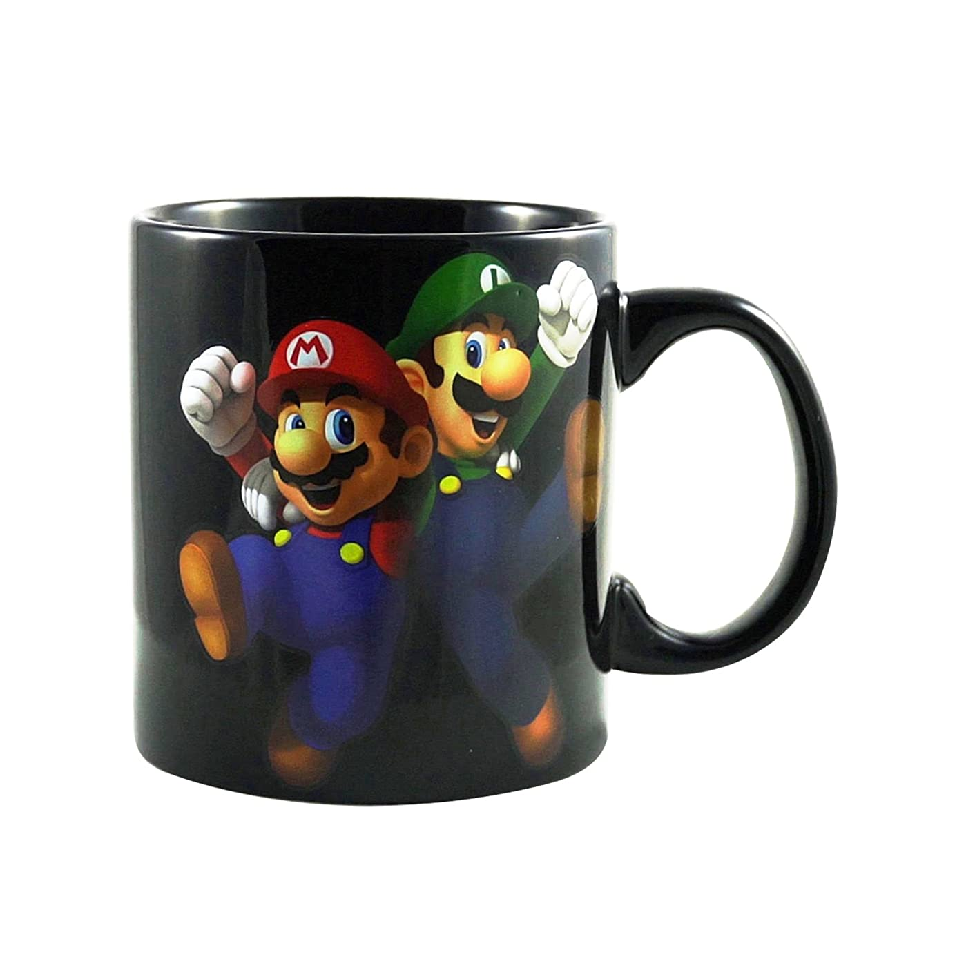 Super Mario Bros. Card Game Ceramic PREMIUM Coffee &Tea Mug/Cup (Inner & Outer Printed) - Novelty Funny Fan Party Gift Monopoly, 20 OZ