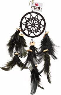 Rooh Dream Catcher ~Black Crochet ~ Handmade Hangings for Positivity (Can be Used as Home Décor Accents, Wall Hangings, Ga...