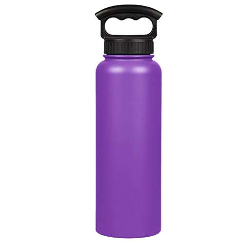 c4e8610884 FIFTY/FIFTY Double Wall Vacuum Insulated Water Bottle, Stainless Steel,  Wide Mouth with