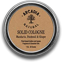 Mandarin, Patchouli & Ginger Solid Cologne - Handcrafted with natural oils and butters, Vegan and alcohol-Free cologne