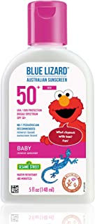 Blue Lizard Baby Mineral Sunscreen – No Chemical Actives – SPF 50+ UVA/UVB Protection, 5 Ounce Bottle