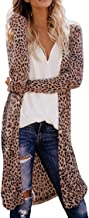 Leopard Snakeskin Print Cardigan Top Women Lightweight Open Front Kimono Cardigans Cover Up Outwear
