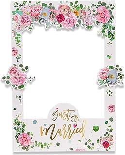Bopfimer Cadre photo floral pour photographie de mariée, décoration de mariage, enterrement de vie de jeune fille, accesso...
