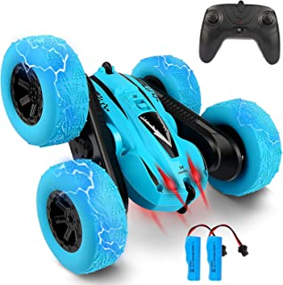 Remote Control Car, Bukm RC Stunt Cars Toy, 4WD 2.4Ghz Double Sided 360° Flips Rotating Vehicles, Off Road High Speed Raci...