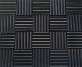 "Soundproofing Acoustic Studio Foam - Wedge Style Acoustic Foam Panels 12""x12""x2"" Tiles - 4 Pack - DIY"