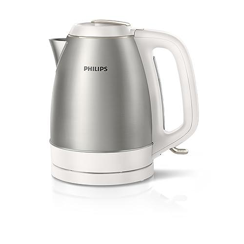 Philips hd9305/00Bouilloire en acier inoxydable 2200W 1,5L, couvercle amovible Blanc