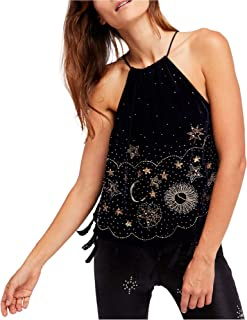 Womens Embellished Halter Blouse