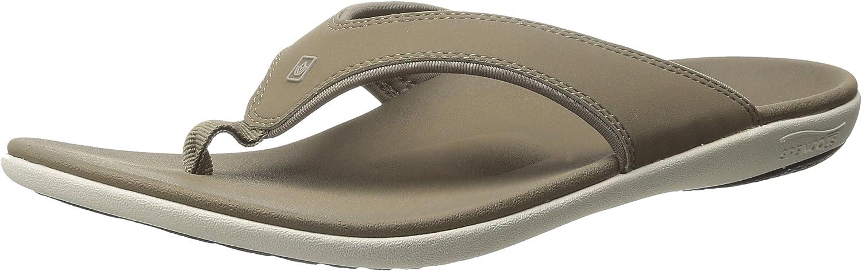 Spenco Men's Yumi Flip Flop Sandal, Walnut, 14 Medium US
