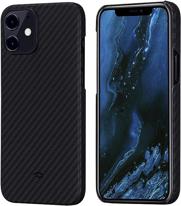 Cover per iphone 12 ultra slim sottile resistente in fibra aramidica pitaka KI1201MIT