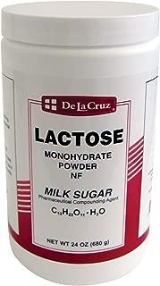 De La Cruz Lactose Monohydrate Powder NF Grade, Packed in USA 24 OZ.