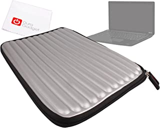 DURAGADGET Silver Memory Foam Laptop Case - Suitable for Toshiba Satellite C55-100| Satellite Pro C50-A-1KJ| C50-B-11L & C50-A-1KH + Bonus Cleaning Cloth