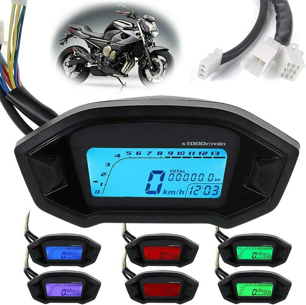 Motorcycle Max 70% OFF Speedometer Tachometer LCD Digital Fit A Ranking TOP13 for Odometer