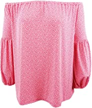 Michael Michael Kors Womens Plus Off-The-Shoulder Jersey Pullover Top