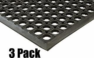 (3) Erie Tools 2x3 Rubber Drainage Floor Mat 24in. x 36in. Anti-Fatigue Anti-slip