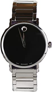 Movado Mens 40mm Ultra Slim Bracelet & Black Museum Dial Watch