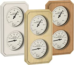 Pin SAWO Sauna Thermo-Hygrom/ètre 271-THB Tremble or C/èdre Rectangulaire Horizontale