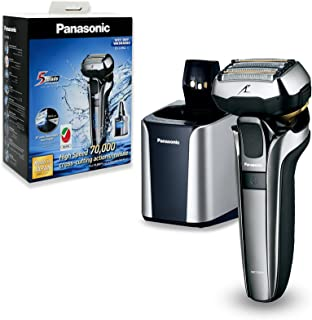 Panasonic ES-LV9Q Wet & Dry Electric 5-Blade Shaver with Cleaning & Charging Stand For Men