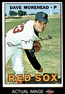 1967 Topps # 297 Dave Morehead Boston Red Sox (Baseball Card) Dean's Cards 5 - EX Red Sox