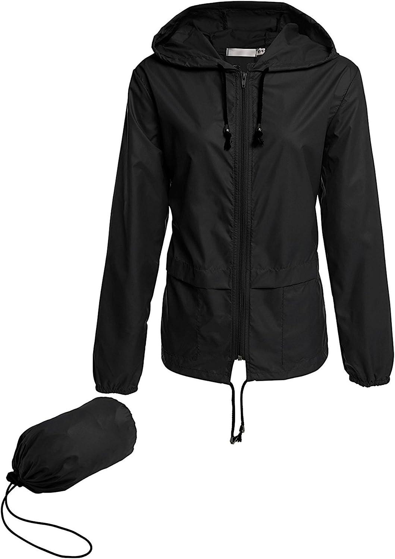 Avoogue Raincoat Women store Lightweight Dealing full price reduction Jackets Waterproof Rain Packa