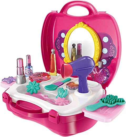 Cable World Beauty Kit Toy Set for Kids Pretend Play Non Toxic Beauty Makeup Kit Set for Baby Girl Indoor...