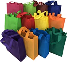 Axe Sickle 24 Pcs Non Woven Party Favor Bags 12 Color Games Gift Tote Bags Kids Carrying Shopping Tote Bag for Party Favor in Retail Packaging, Kids Birthday Party Event Supplies.