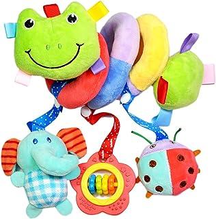 Tininna bambino carino Twisty spirale passeggino carrozzina seggiolino auto lettino Soft Toys Hanging Rabbit A