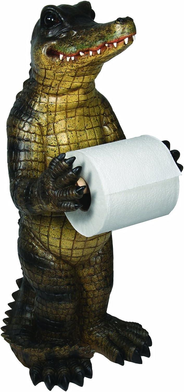 River's Edge Alligator Standing Toilet Paper Holder, Green