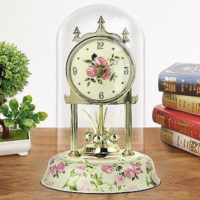 Edge to Relojes de Escritorio Nostálgico Reloj de Tabla Retro Sala de Estar péndulo Ornamento Dormitorio