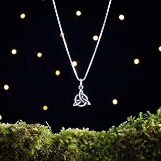 Sterling Silver Celtic Triquetra Knot - Small - (Charm Only or Necklace)