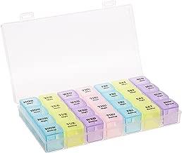 Okayji 28 Days 4 Weeks for 7 Days Pill Storage Medicine Box Organizer - 4 Line