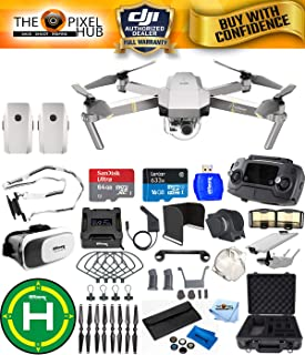 DJI Mavic Pro Platinum Edition Pro Accessory Bundle with Aluminum Case, 7 Piece Filter Kit, Vest Strap, Landing Pad Plus Much More (2 Batteries Total)