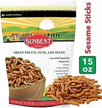 SUNBEST Narrow Sesame Sticks in Resealable Bag, Kosher Certified (15 Ounce)