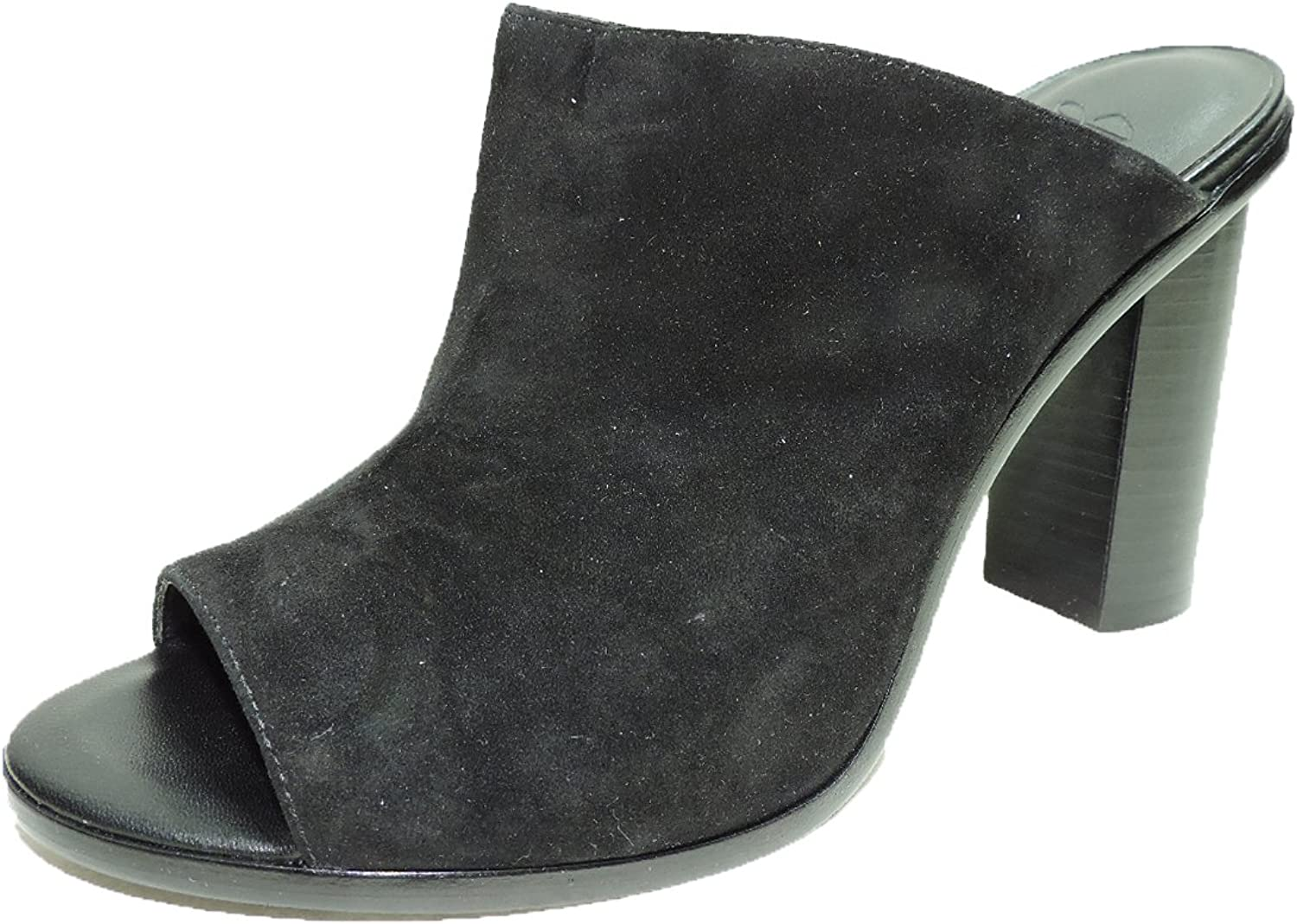Joie Womens Clement Black Suede 4.5  Heel Mules Heels shoes Size 9 B