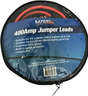 Battery Link 400 amp Jumper leads 3m with built in surge protector SB400SG