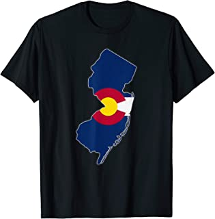 NEW JERSEY STATE MAP COLORADO CO Flag Roots Men Women Gift T-Shirt