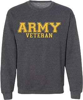 ZeroGravitee Army Veteran Gold Logo Military Style Physical Training Crewneck Sweatshirt