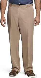 Van Heusen mens Big and Tall Flat Front Straight Fit Solid Dress Pant Dress Pants
