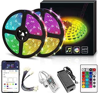 YORUKAU Led Strip Lights - RGB 300 LEDs - Controlled by WiFi Smart Phone - Bluetooth or Key Remote - Waterproof - Led Ligh...