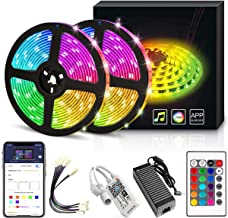 YORUKAU Led Strip Lights - RGB 300 LEDs - Controlled by WiFi Smart Phone - Bluetooth or Key Remote - Waterproof - Led Ligh...