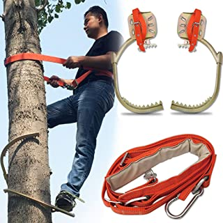 GBHJJ klättra träd artefakt, rostfritt stål klättring halkfri träfot-spänne, en elektriker, hållbar, rostskydd, slitstark,...