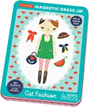 Mudpuppy Cat Fashion Magnetic Dress-Up Doll, for Age 4+, Magnetic Tin Play Set with Fun Scenes, 40+ Magnets to Dress Up Cute Kitty Friends, Great for Travel and Quiet Time