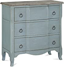 Dorel Living Wells Accent, Antique Teal 3 Drawer Chest,