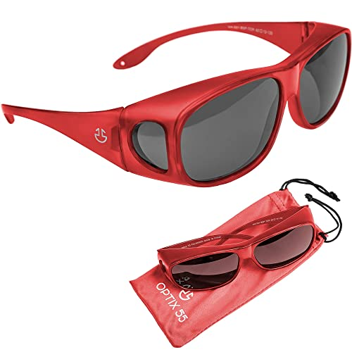 4a6bcb4dea1 Wrap Around Sunglasses - Polarized - UV Protection to Wear as Fit Over  Glasses Sunglasses -