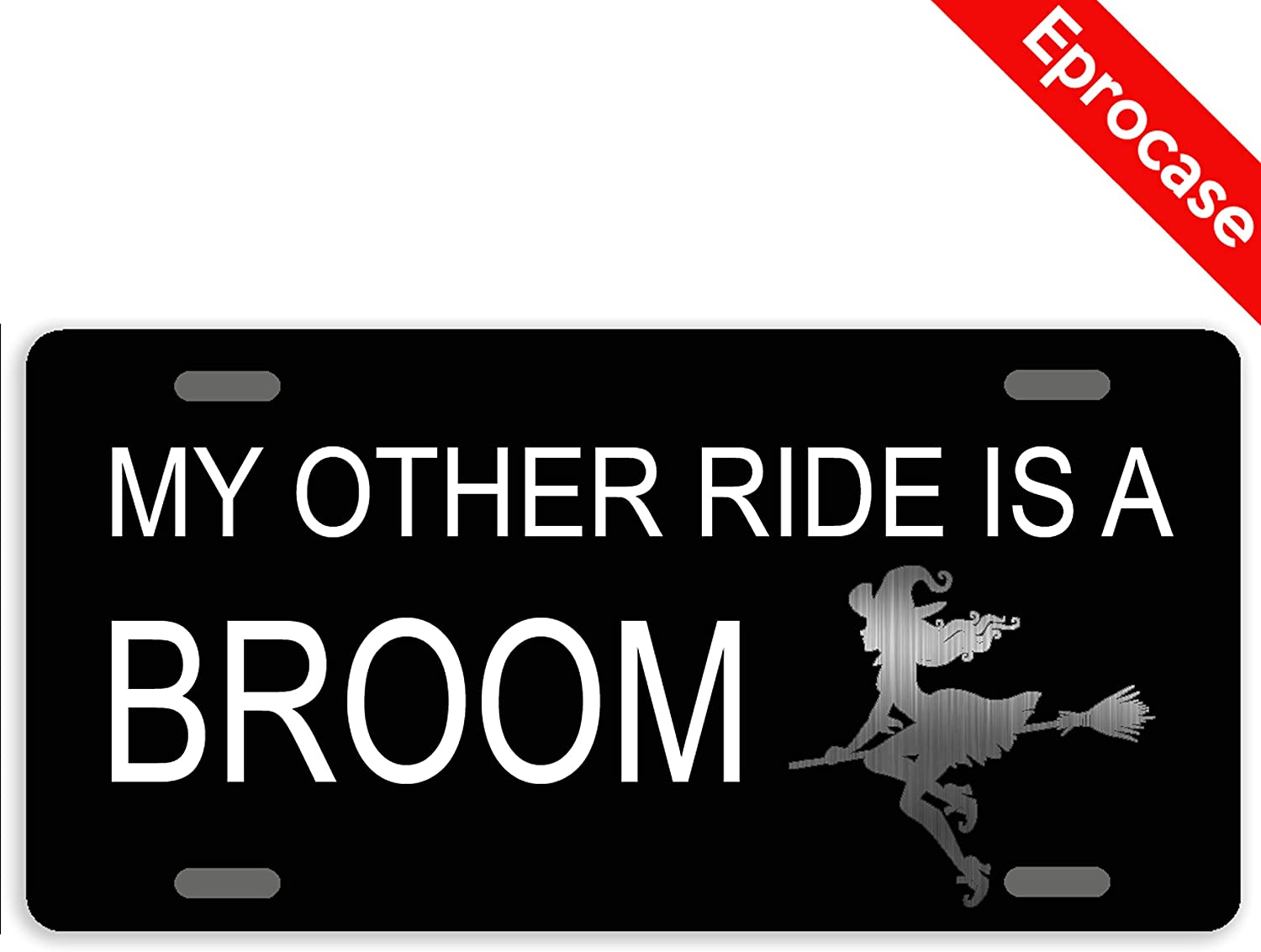 Eprocase Halloween Witch License Plate My A Other Philadelphia Mall Super popular specialty store Broom is Ride