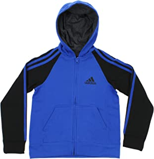 adidas Youth Boy's Full-Zip Three Stripe Hoodie, Color Options