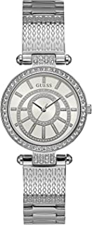 Guess Womens Quartz Watch, Analog Display and Stainless Steel Strap W1008L1