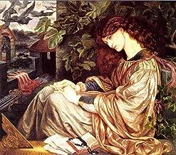 JH Lacrocon Dante Gabriel Rossetti - La Pia De Tolomei Canvas Wall Art 60X55 cm(ca. 24X22 inch) - Pre-Raphaelite Portrait Paintings Reproduction Print Rolled